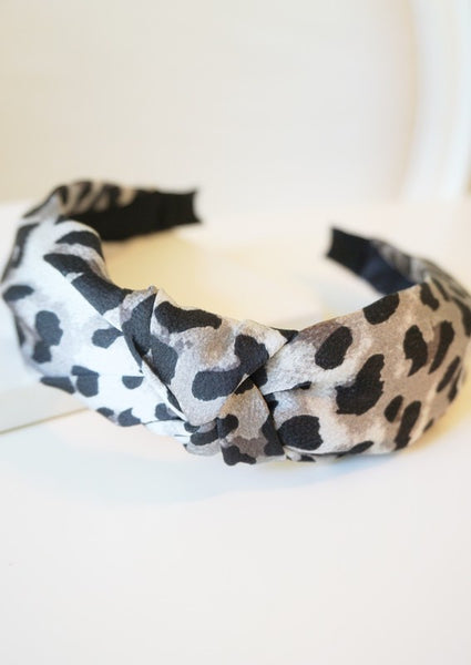 Leopard Top Knot Headband