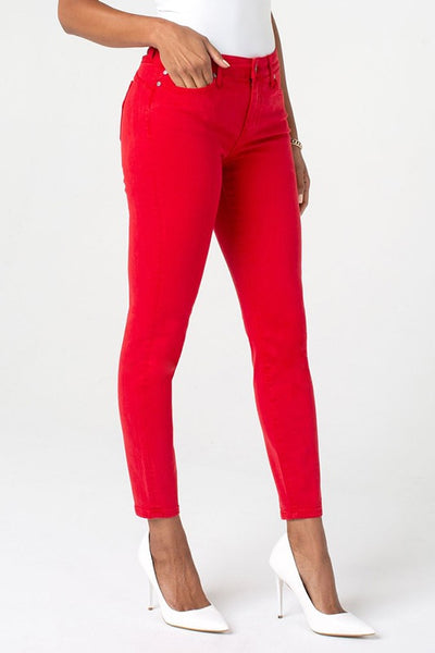 "Piper Hugger Ankle Skinny 28"" Lipstick Red"