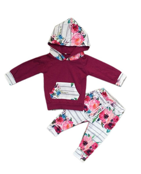 Kid's Two Piece Floral Print Set