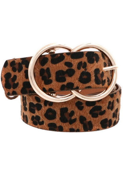 Faux Fur leopard belt