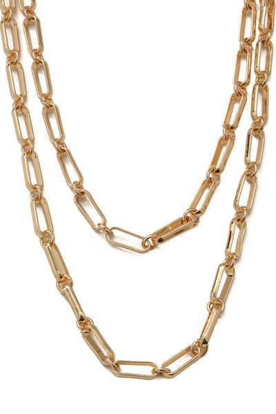 Double Layer Bold Chain Necklace