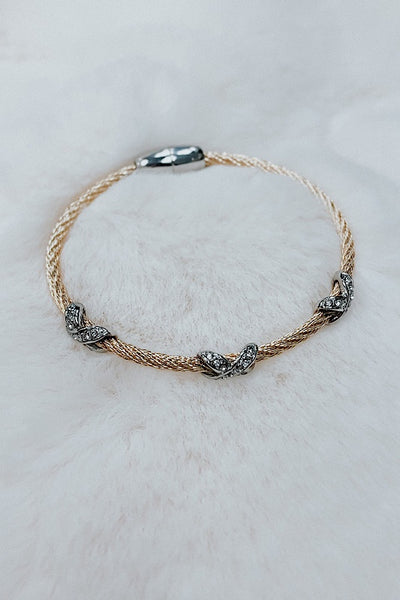 Cable and Criss Cross Bracelet