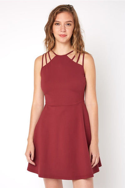Ellie Multi Strap Fit & Flare Dress