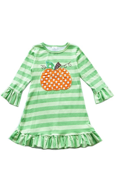 Kid's Stripe Pumpkin Dress