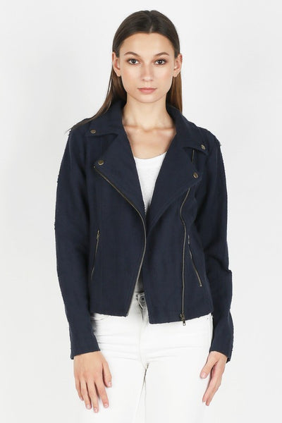 Textured French Terry Jacket