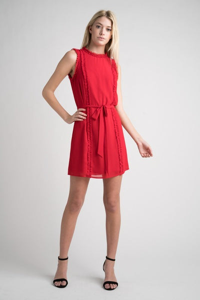 Dress w/ Ruffle Pleat