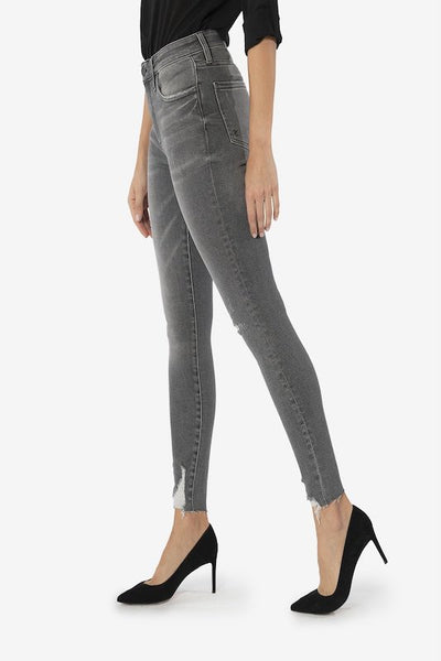 Connie High Rise Slim Fit with Grey Wash