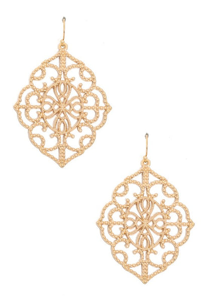 Filagree hook earring