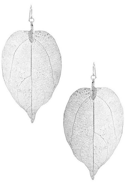 Metal Leaf Earring