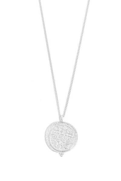 Coin Pendant Long Necklace