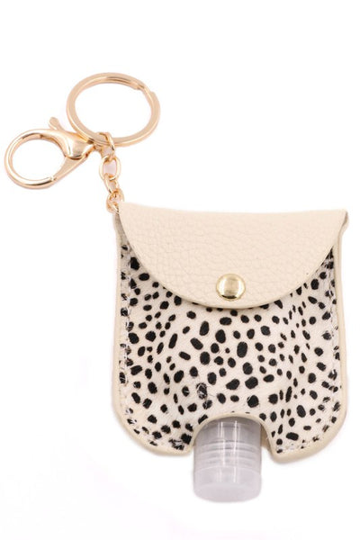 Faux Fur Hand Sanitizer Keychain