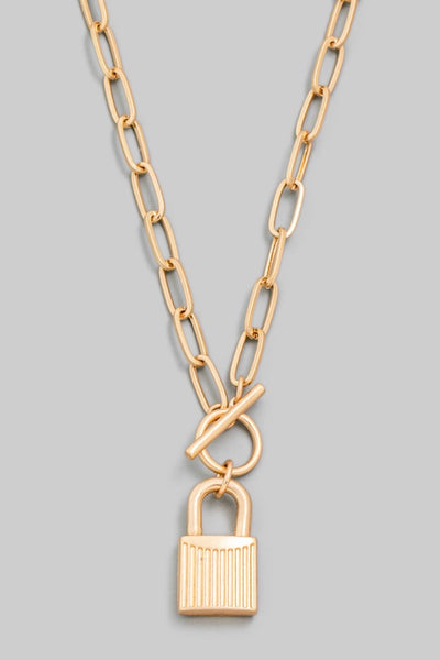 Padlock Toggle Chain Necklace