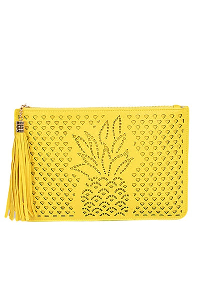 Pineapple Laser Cut Clutch