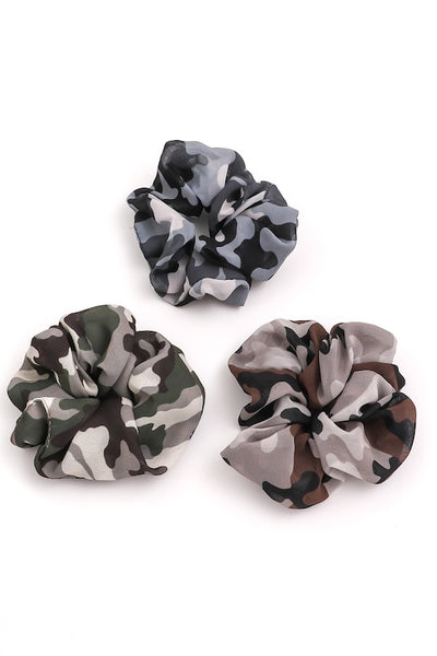 Camo Hair Scrunchie