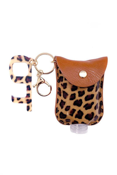Key Chain w/Sanitizer Pouch and Safe Touch