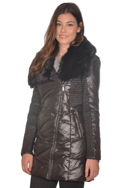 Antonia Jacket with Faux Fur Collar