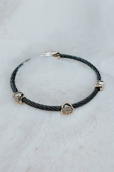 Pave Disc Cable Bracelet