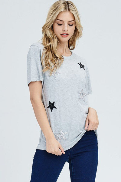 Glitter Star Patched Tee