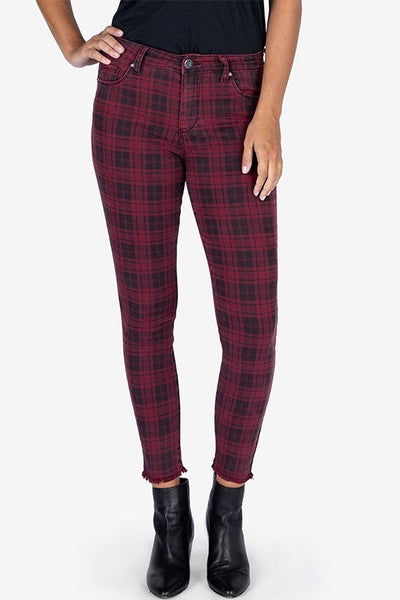Plaid Connie High Rise Ankle Skinny