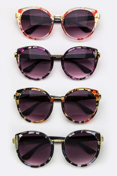 Floral Frame Cateye Sunglasses