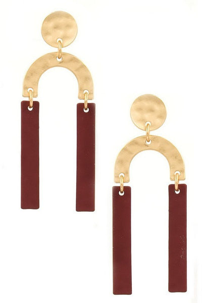 Meal Crescent Matte Earring
