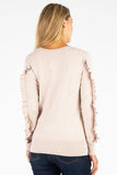 Marlee V-Neck Pullover Sweater with Silhouette