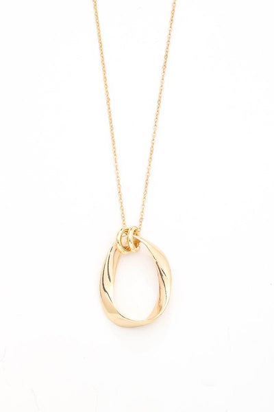 Twisted Loop drop necklace