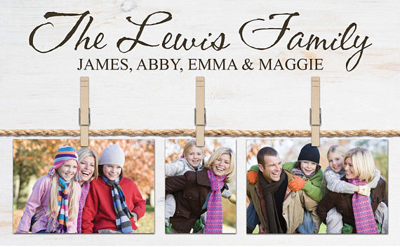 Personalize Photo Board Sign Clips