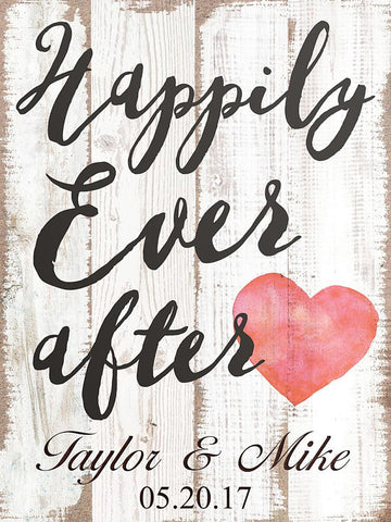 Customizable Happily Ever After Sign for Weddings - The Personalize Shop