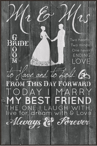 Mr. and Mrs Wedding Sign