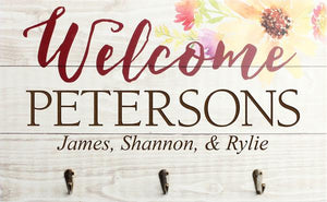 Personalize Key Rack/ Welcome Sign