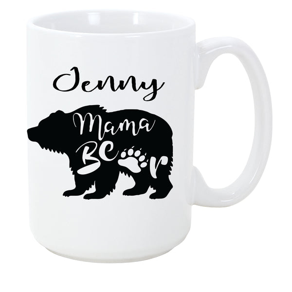 Mama Bear Mug - Customizable Coffee Mug for Mom - The Personalize Shop