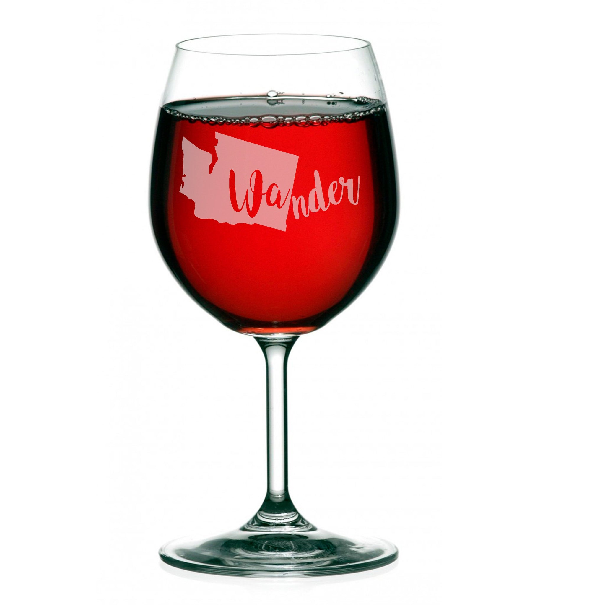 WAnder Wine Glass, Personalized, Hand Etched - The Personalize Shop