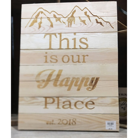 Customizable This is our Happy Place Sign - The Personalize Shop