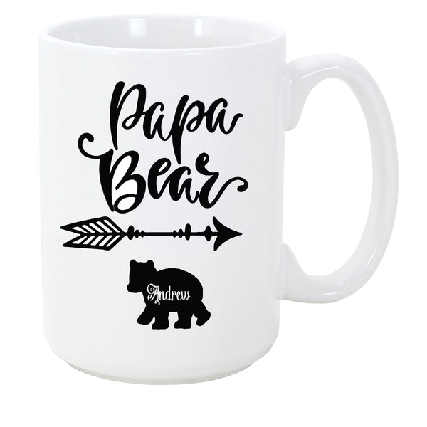 Personalized Papa Bear Mug - The Personalize Shop