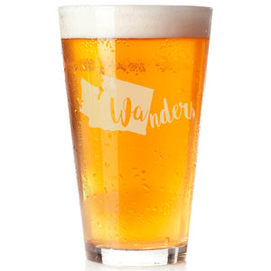 Wander Pint Glass, graduation gift, fathers day gift - The Personalize Shop