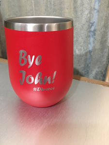 Funny Customizable Wine Tumbler for Divorcees - The Personalize Shop