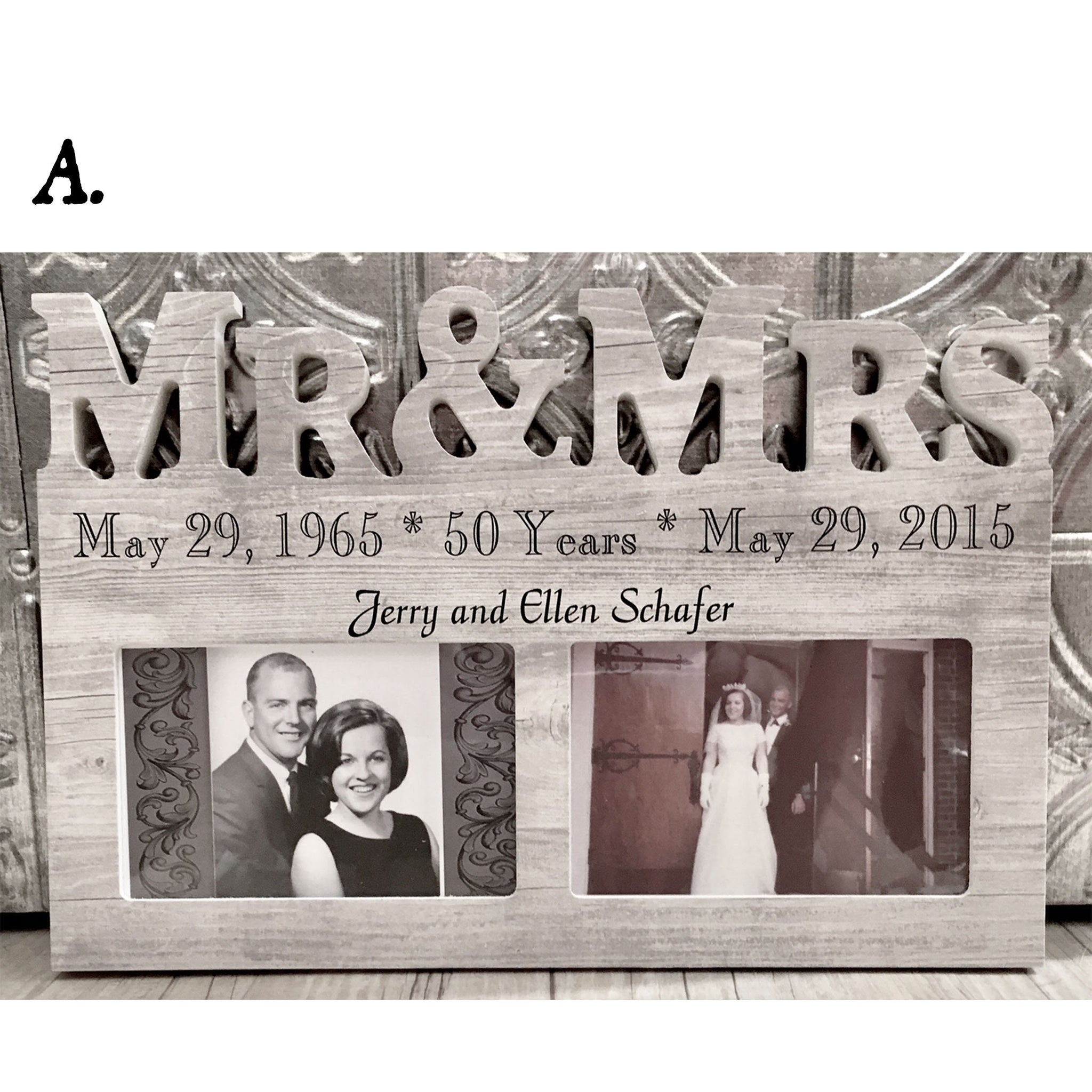 Mr. & Mrs. Customizable Picture Frame - The Personalize Shop
