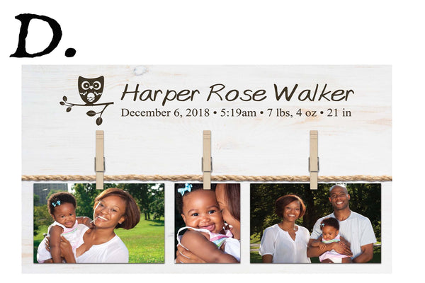 Personalized Photo Board with Photo Clips - The Personalize Shop