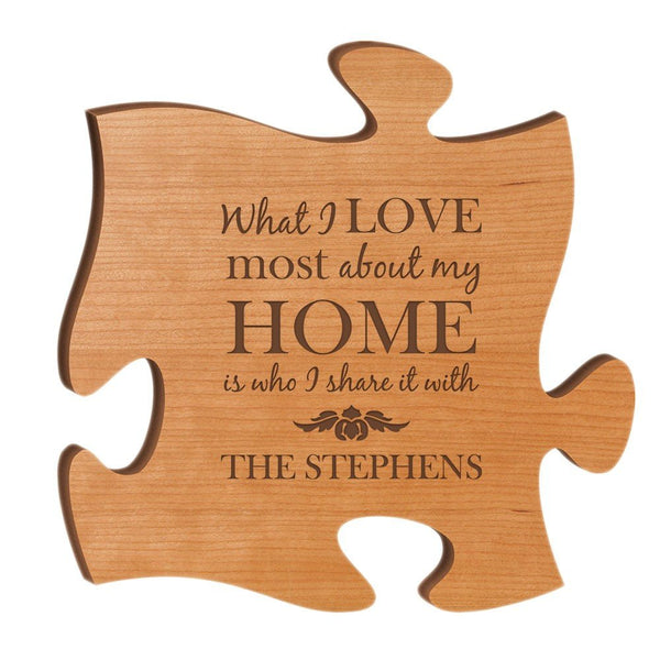 Personalized Wood Puzzle Piece - The Personalize Shop