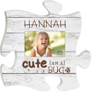 Vintage Wood Personalized Puzzle Piece Picture Frame