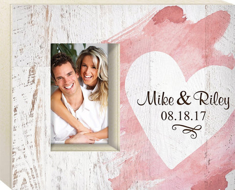Custom Engraved Heart Box Frame - The Personalize Shop