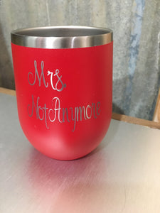 Funny Customizable Wine Tumbler Divorcee Gift