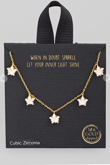 5 Star Charm Crystal Necklace