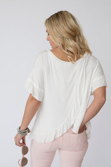 Ruffle Boxy Criss Cross Top