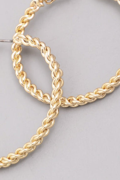 Gold Rope Hoop Earrings