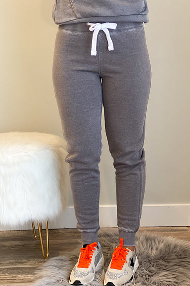 Burnout Jogger in Heather
