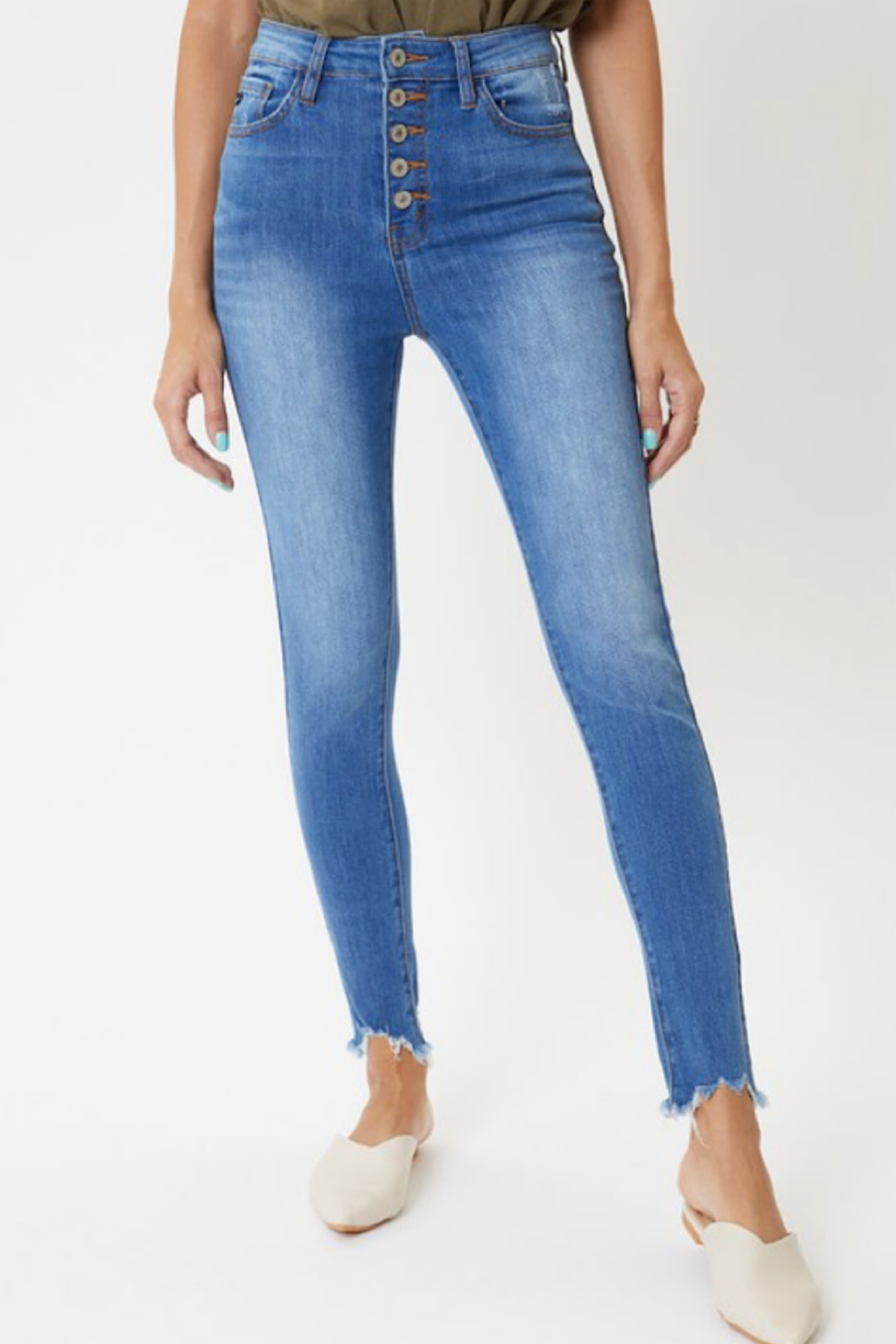 Thomas Super High Rise Buttonfly Skinny Jeans