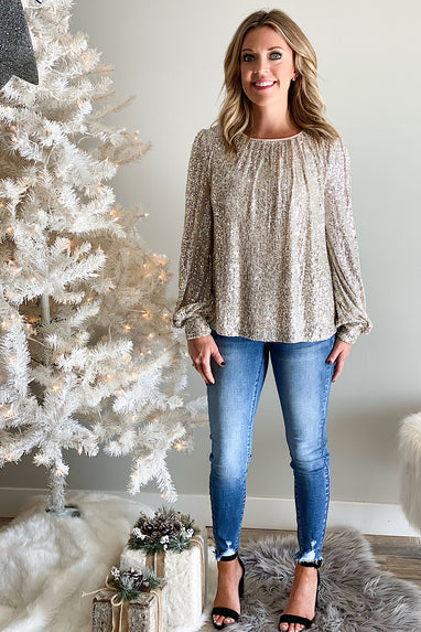 Time of my Life Sequin Top