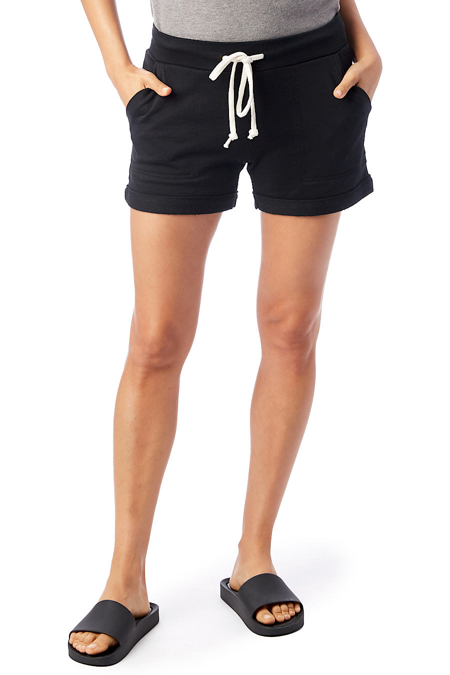 French Terry Lounge Short in True Black